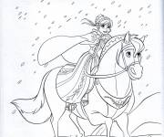 Coloring pages Snow Queen Anna