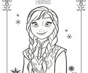 Coloring pages Snow Queen in color