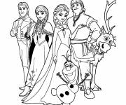 Coloring pages The family of the Snow Queen
