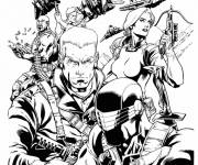 Coloring pages Cobra team characters
