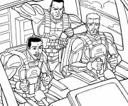 Coloring pages GI-Joe in truck cartoon
