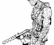 Free coloring and drawings GI-Joe soldier drawing online Coloring page