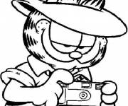 Coloring pages Garfield the photographer