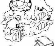 Coloring pages Sleeping Garfield