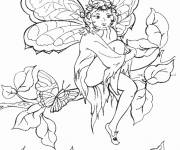 Coloring pages Easy Elf Drawing