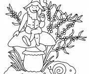 Coloring pages Gnomes smokes his pipe