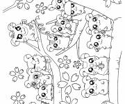 Coloring pages Hamtaro and his friends