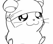 Coloring pages Hamtaro Cappy