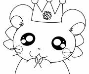 Coloring pages Hamtaro Easy Hamster