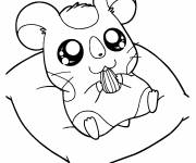Coloring pages Hamtaro :Okini
