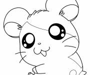 Coloring pages Hamtaro smiling