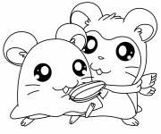Coloring pages Hamtaro to print free