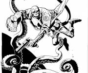 Coloring pages Cartoon hellboy the devil son