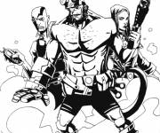 Coloring pages Hellboy and his friends to download