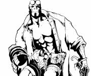 Coloring pages Hellboy coloring drawing