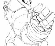 Coloring pages Hellboy devil drawing