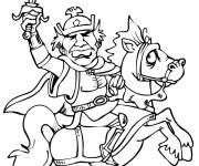 Coloring pages The king on his horse