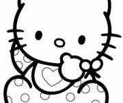 Coloring pages Hello baby Kitty