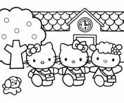 Coloring pages Hello Kitty and her friends