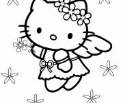 Coloring pages Hello Kitty l'ange