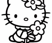 Coloring pages Hello Kitty simple to color
