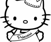 Coloring pages Hello kitty the most beautiful princess