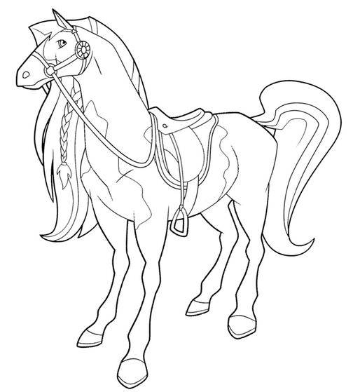 Free coloring and drawings Horseland and Pepper Coloring page