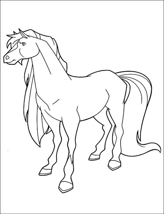 Free coloring and drawings Horseland Apache Coloring page