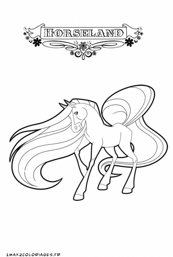 Free coloring and drawings Horseland cartoon online Coloring page