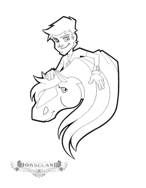 Free coloring and drawings Horseland drawing Coloring page