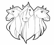 Coloring pages Horseland drawing cartoon