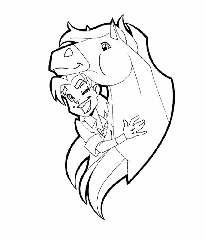 Free coloring and drawings Horseland Fred et Tango Coloring page