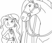 Free coloring and drawings Horseland free Coloring page