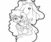Free coloring and drawings Horseland free Drawing Coloring page