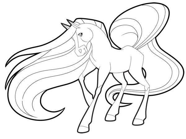 Free coloring and drawings Horseland free to print Coloring page