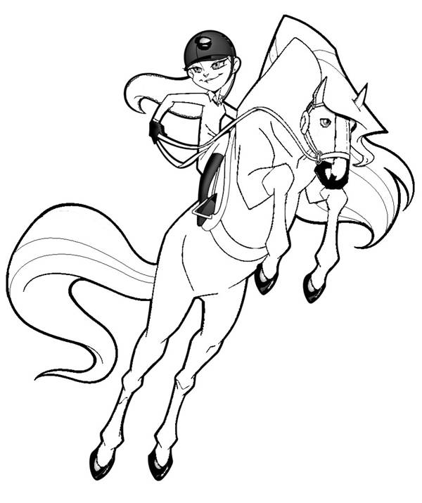 Free coloring and drawings Horseland horse jumping Coloring page