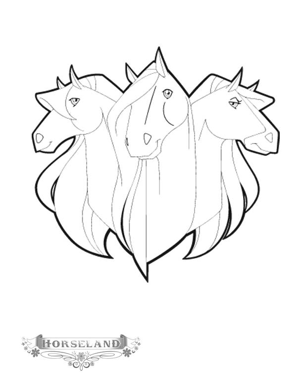 Free coloring and drawings Horseland horses Coloring page