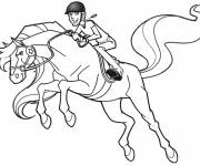 Coloring pages Horseland in full jump