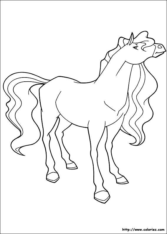 Free coloring and drawings Horseland Marie Coloring page