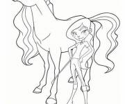 Coloring pages Horseland Rosa