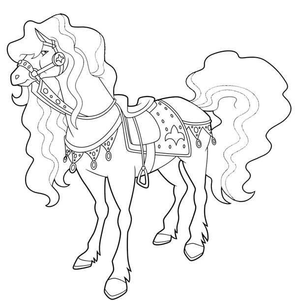 Free coloring and drawings Horseland Scarlet Coloring page