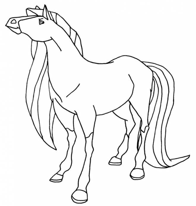 Free coloring and drawings Horseland Scarlet online Coloring page