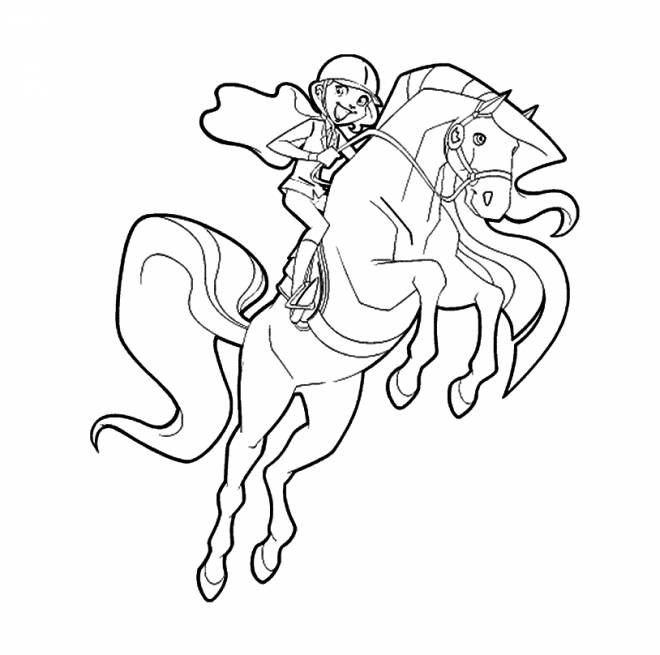 Free coloring and drawings Horseland to print for free Coloring page