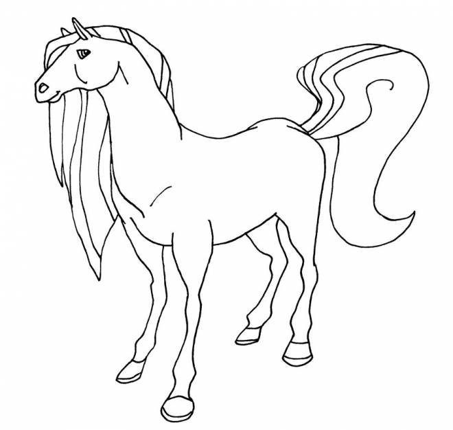 Free coloring and drawings Horseland welcome at the ranch Coloring page