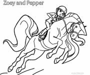 Coloring pages Horseland Zoey and Pepper