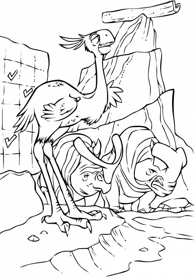 Free coloring and drawings Animals on the run Coloring page
