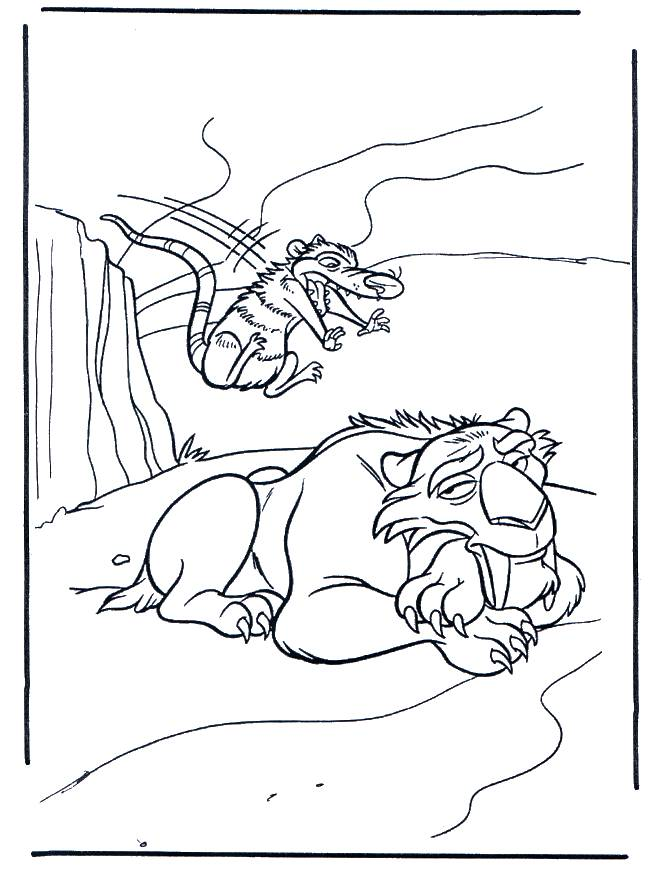 Free coloring and drawings Crash tries to scare Diego Coloring page