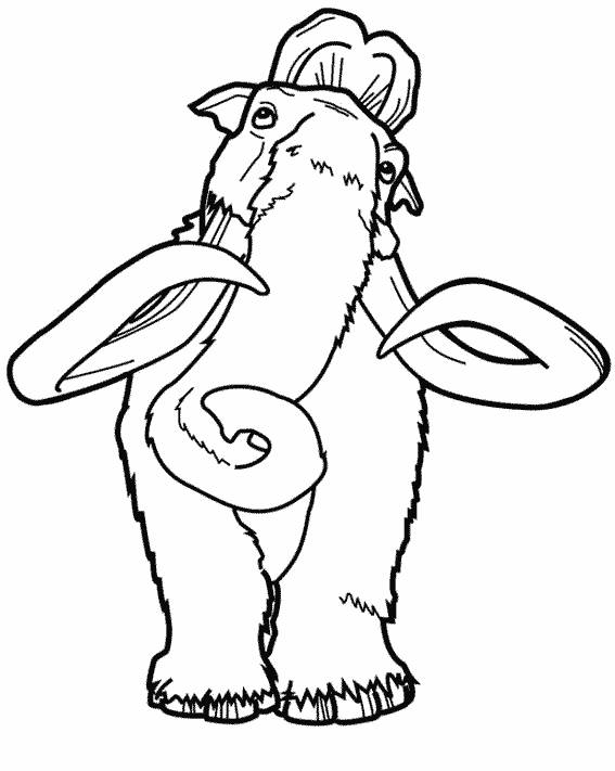 Free coloring and drawings Ice Age Coloring page