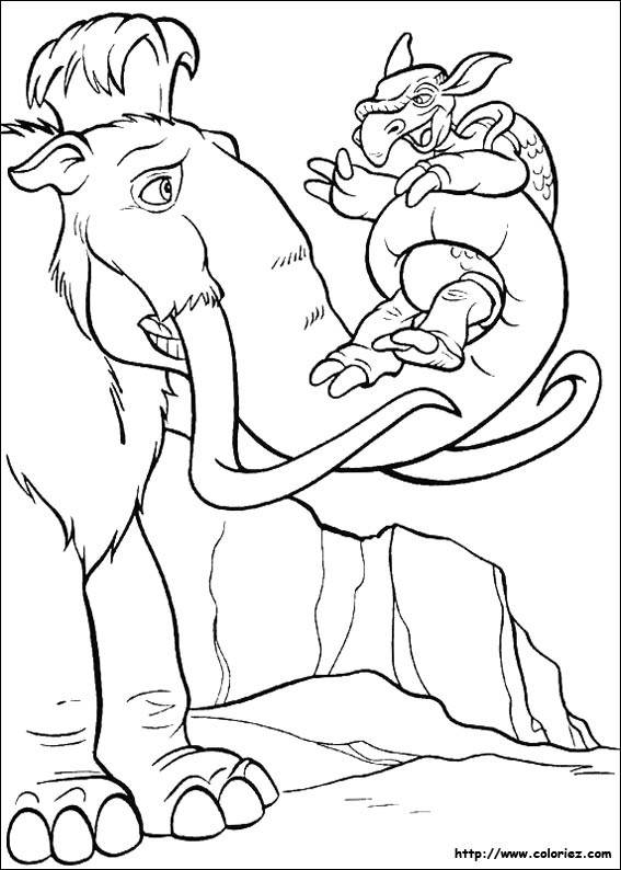 Free coloring and drawings Ice Age drawing Coloring page