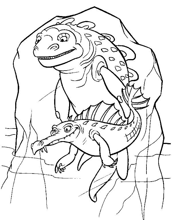 Free coloring and drawings Ice Age: the villains Coloring page